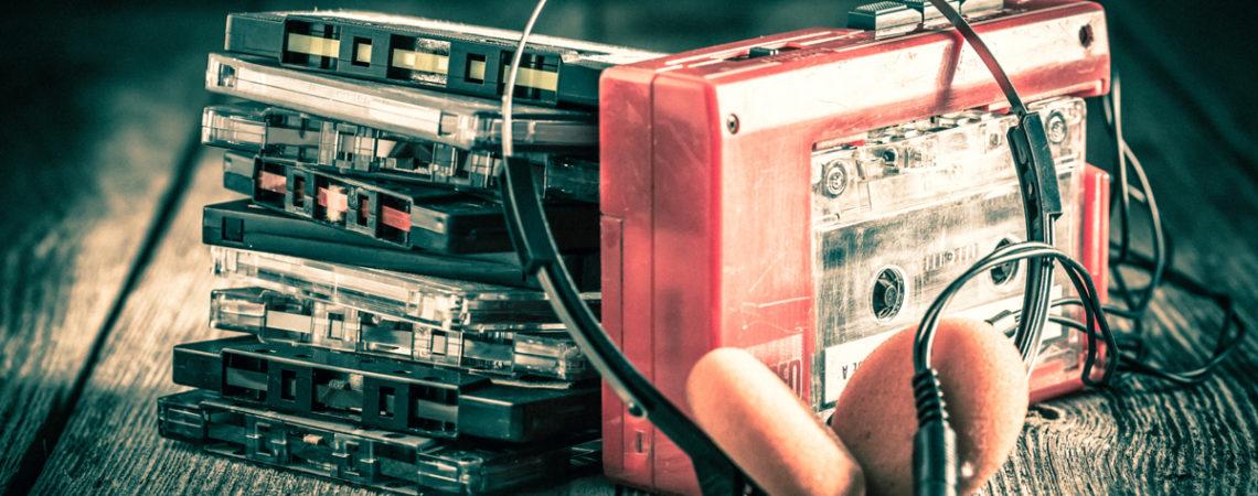 Kasety magnetofonowe lata 90