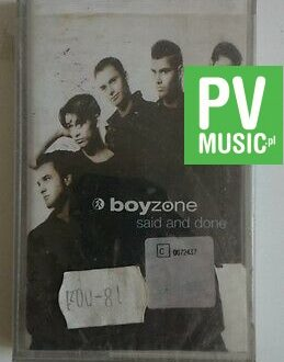 BOYZONE  SAID AND DONE    audio cassette