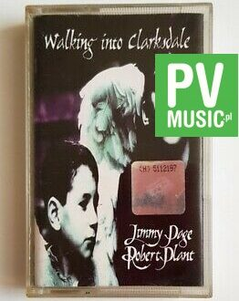 JIMMY PAGE & ROBERT PLANT WALKING INTO CLARKSDALE audio cassette