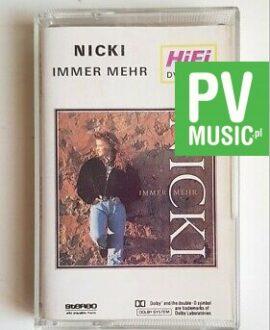 NICKI IMMER MEHR audio cassette