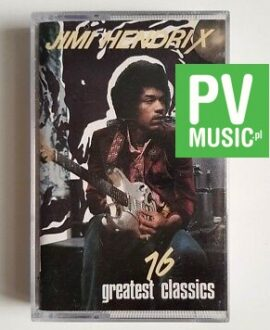 JIMI HENDRIX 16 GREATEST HITS audio cassette