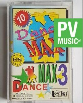 DANCE MAX 3 VANESSA PARADISE, YELLO.. audio cassette