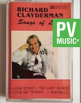 RICHARD CLAYDERMAN SONGS OF LOVE audio cassette