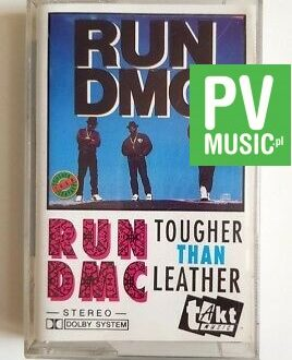 RUN DMC TOUGHER THAN LEATHER audio cassette