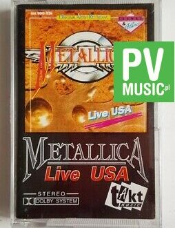 METALLICA LIVE USA audio cassette