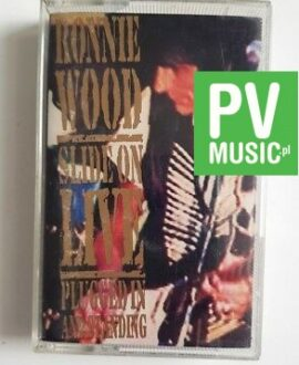 RONNIE WOOD SLIDE ON LIVE audio cassette