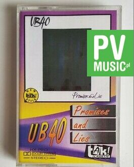 UB40 PROMISES AND LIES audio cassette