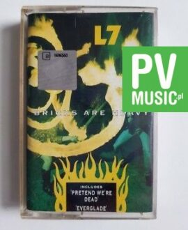 L7 BRICKS ARE HEAVY audio cassette