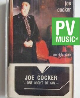 JOE COCKER ONE NIGHT OF SIN audio cassette