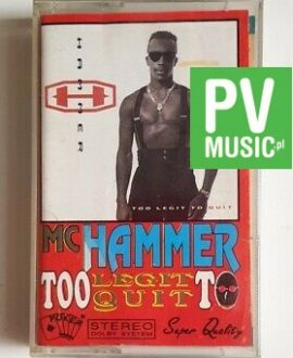 MC HAMMER TOO LEGIT TO QUIT audio cassette