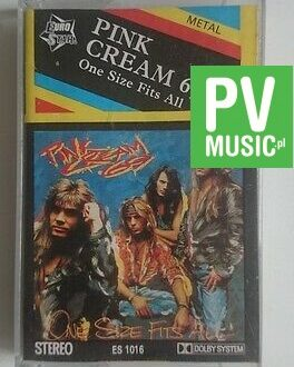 PINK CREAM 69  ONE SIZE FITS ALL  audio cassette