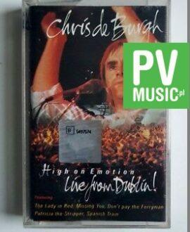 CHRIS DE BURGH HIGH ON EMOTION, LIVE FROM DUBLIN audio cassette