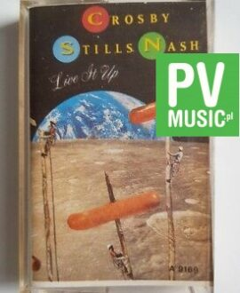 CROSBY STILLS NASH LIVE IT UP audio cassette