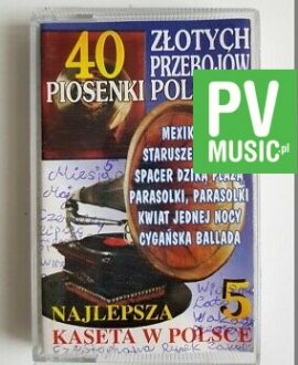 40 GOLDEN POLISH HITS PARASOLKI, MEXICANA.. audio cassette