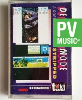 DEPECHE MODE A QUESTION OF TIME/STRIPPED audio cassette