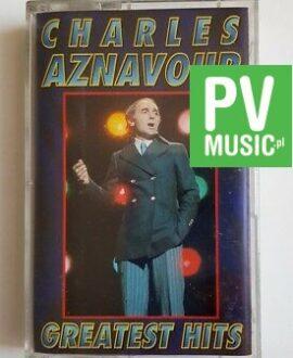 CHARLES AZNAVOUR GREATEST HITS audio cassette