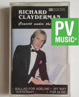RICHARD CLAYDERMAN CONCERT UNDER THE STAR audio cassette