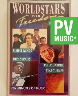 WORLDSTARS FOR FREEDOM KATE BUSH, DIRE STRAITS, MIKE OLDFIELD.. audio cassette