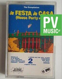 LA FESTA IN CASA, HOUSE PARTY vol.2 PRODIGY, BEE BEAT.. audio cassette