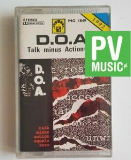 D.O.A. TALK MINUS ACTION = ZERO audio cassette
