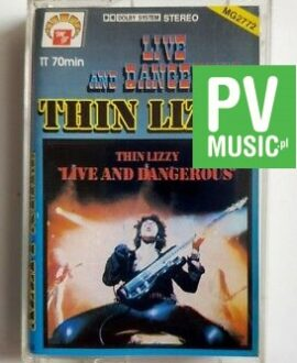 THIN LIZZY LIVE AND DANGEROUS audio cassette