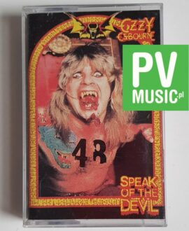 OZZY OSBOURNE SPEAK OF THE DEVIL audio cassette