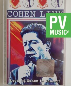 LEONARD COHEN LIVE IN CONCERT audio cassette