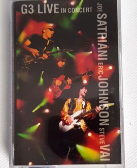 J.SATRIANI, S.VAI, E.JOHNSON G3 LIVE IN CONCERT audio cassette