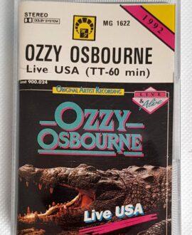 OZZY OSBOURNE LIVE USA audio cassette