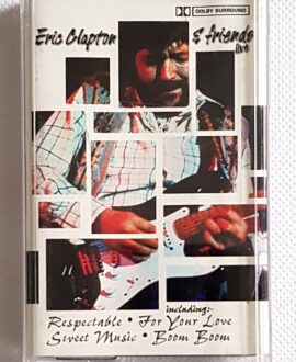 ERIC CLAPTON & FRIENDS LIVE audio cassette