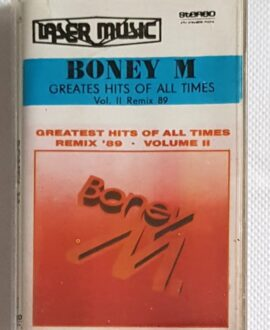 BONEY M.  GREATEST HITS OF ALL TIMES REMIX 89' audio cassette