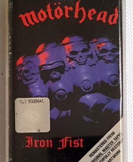 MOTORHEAD IRON FIST audio cassette