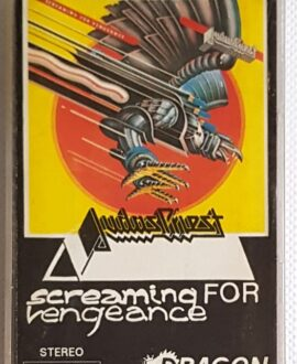 JUDAS PRIEST SCREAMING FOR VENGEANCE audio cassette