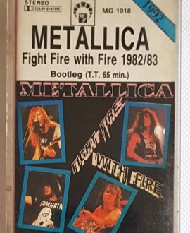 METALLICA FIGHT FIRE WITH FIRE audio cassette