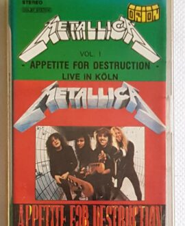 METALLICA APPETITE FOR DESTRUCTION LIVE IN KOLN audio cassette