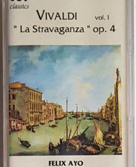ANTONIO VIVALDI LA STRAVAGANZA audio cassette