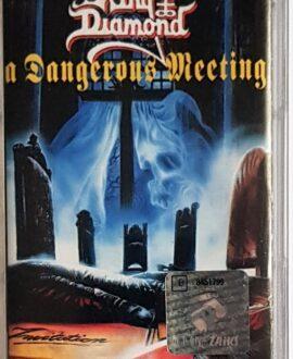 """KING DIAMOND/MERCYFUL FATE """"A DANGEROUS MEETING"""" audio cassette"""