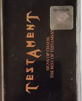 TESTAMENT SINGS OF CHAOS: THE BEST OF TESTAMENT audio cassette