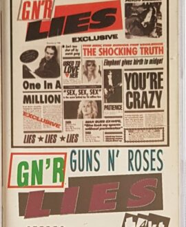 GUNS N' ROSES GN'R LIES audio cassette