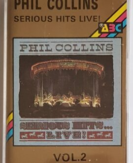 PHIL COLLINS SERIOUS HITS LIVE vol.2 audio cassette
