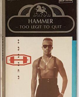 HAMMER TOO LEGIT TO QUIT audio cassette