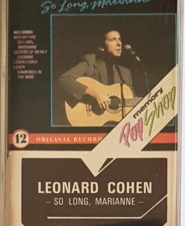 LEONARD COHEN SO LONG, MARIANNE audio cassette