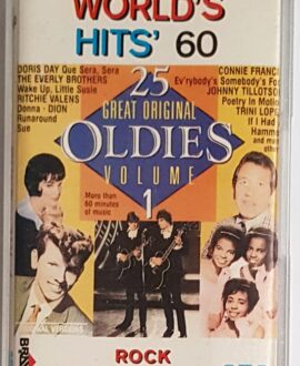 WORLD'S HITS 60 TRINI LOPEZ, DORIS DAY.. audio cassette