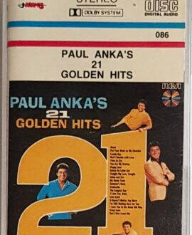 PAUL ANKA'S 21 GOLDEN HITS audio cassette