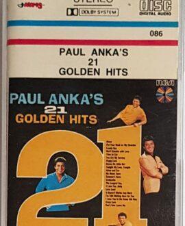 PAUL ANKA'S 21 GOLDEN HITS audio cassette