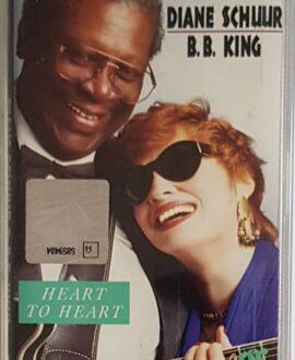 DIANE SCHUUR B.B.KING  HEART TO HEART audio cassette