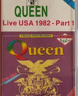 QUEEN  LIVE USA 82 part 1 audio cassette