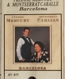 FREDDIE MERCURY & MONTSERRAT CABALLE  BARCELONA audio cassette