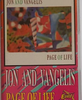 JON AND VANGELIS  PAGE OF LIFE audio cassette
