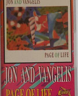 JON AND VANGELIS  PAGE OF LIFE audio cassette